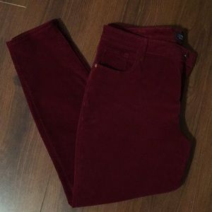 Ladies Old Navy Rockstar Velveteen Jeans